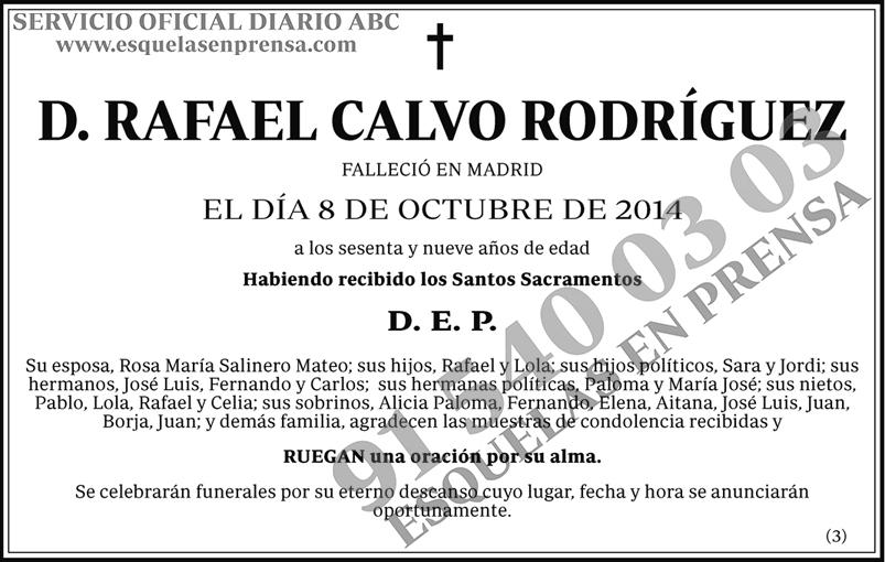 Rafael Calvo Rodríguez